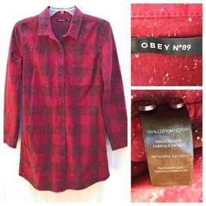 OBEY No. 89 Plaid Shirt Dress